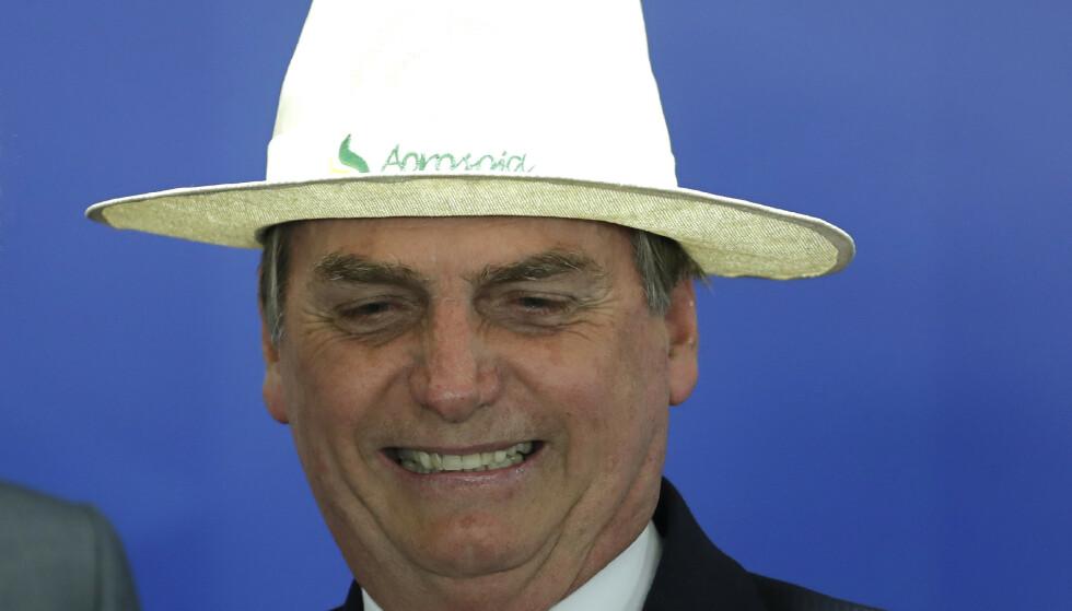 Brasils president Jair Bolsonaro tror ikke at noen sulter i Brasil. Foto: Eraldo Peres / AP / NTB scanpix