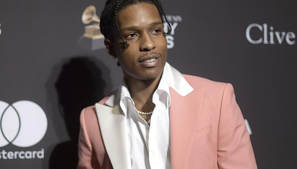 A$AP Rocky var 30. juni innblandet i et slagsmål i Stockholm. Han sitter nå varetektsfengslet tiltalt for vold. Saken er ventet å komme for retten tirsdag neste uke. Foto: Richard Shotwell / Invision / AP / NTB scanpix