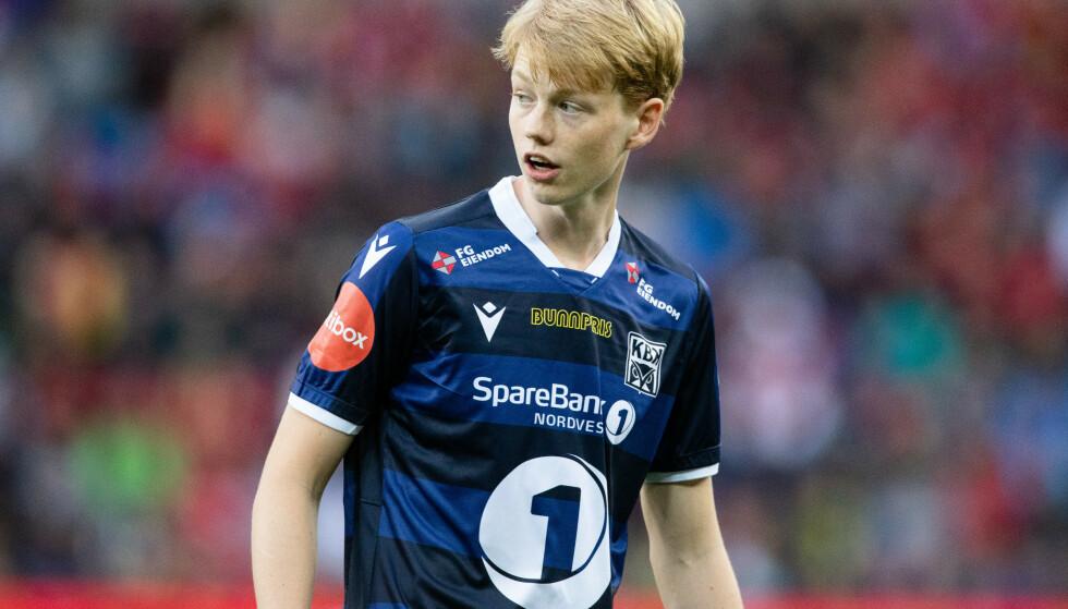Noah Solskjær fikk en stor opplevelse da han ble byttet inn for Kristiansund mot Manchester United på Ullevaal. Foto: Audun Braastad / NTB scanpix