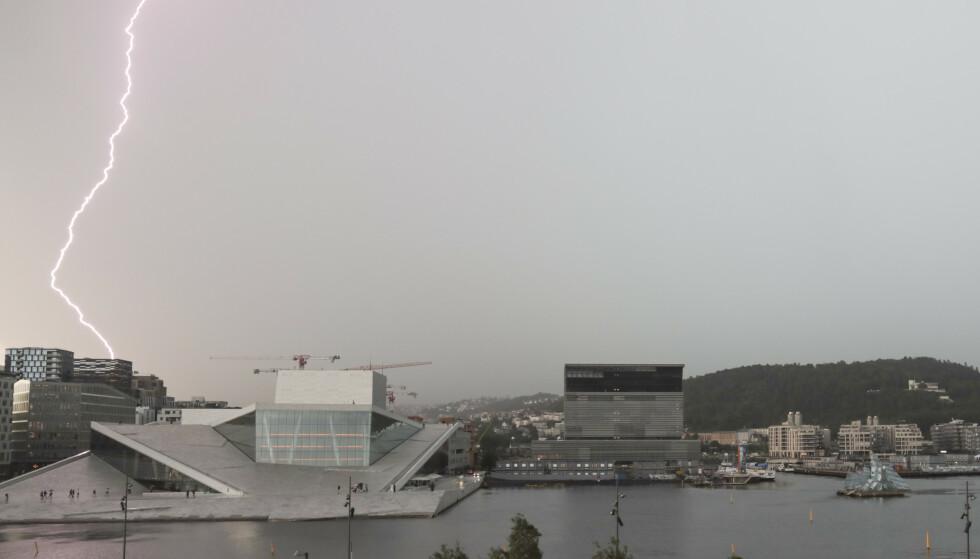 Det er ventet flere regn- og tordenbyger på Østlandet og i Agder søndag, ifølge Meteorologisk institutt. Foto: Ørn E. Borgen / NTB scanpix.