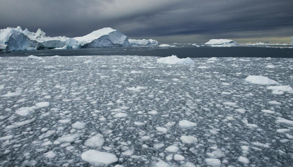 Biter av is i sjøen utenfor kysten av Grønland. Illustrasjonsfoto: Jan-Morten Bjørnbakk / NTB scanpix