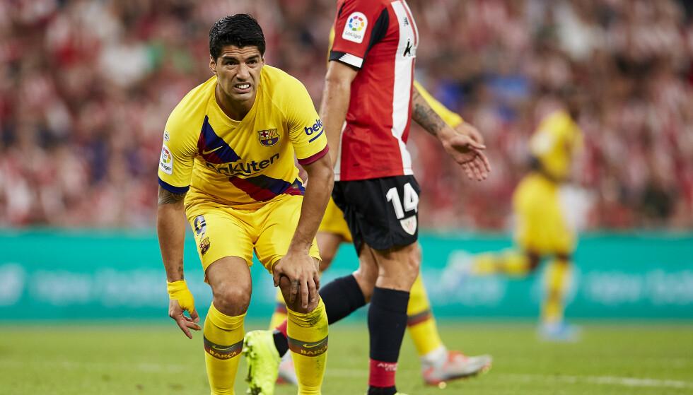 Barcelona' Luis Suárez slet i serieåpningen. Foto: Alcoba Beitia / AP / NTB scanpix.