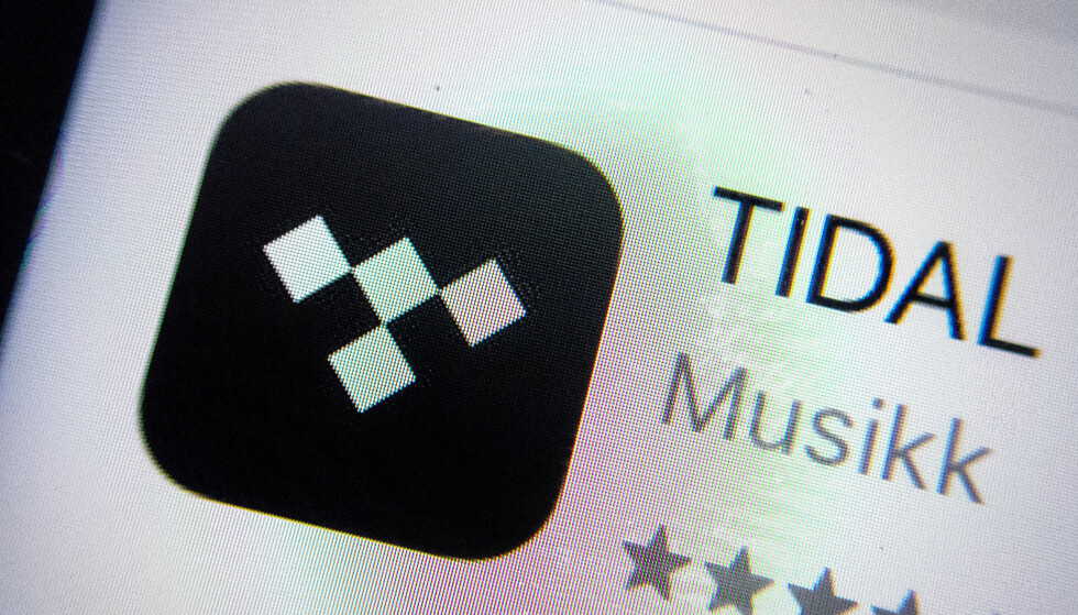 Tidal-appen på mobil. Foto: Gorm Kallestad / NTB scanpix