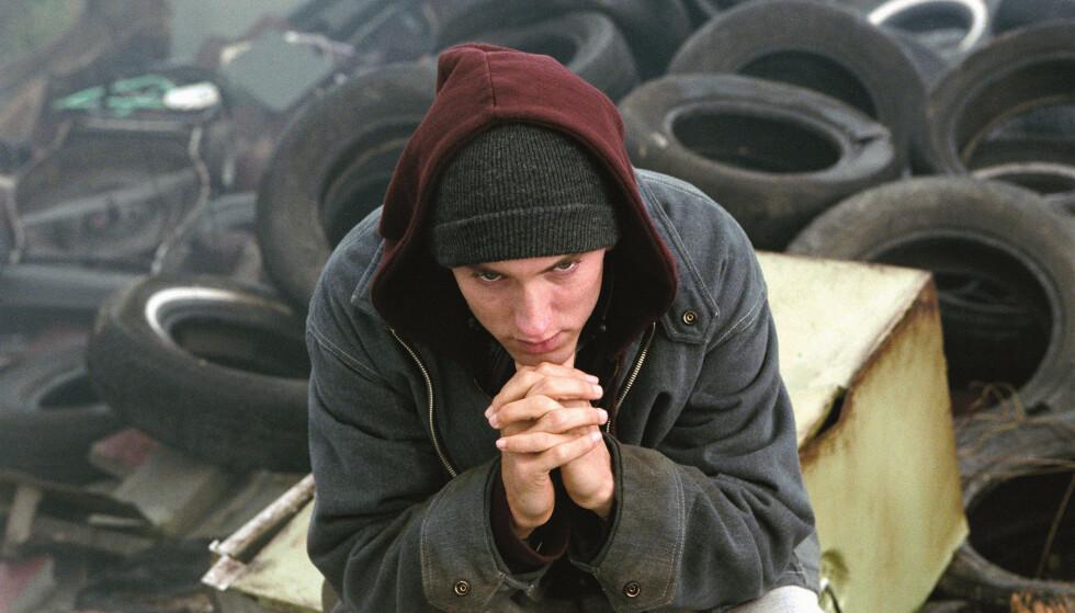 Eminem i «8 Mile». Nå har artistens utgiver saksøkt Spotify med påstand om brudd på en ny lov om rettigheter for å strømme musikk. Foto: UIP/SCANPIX
