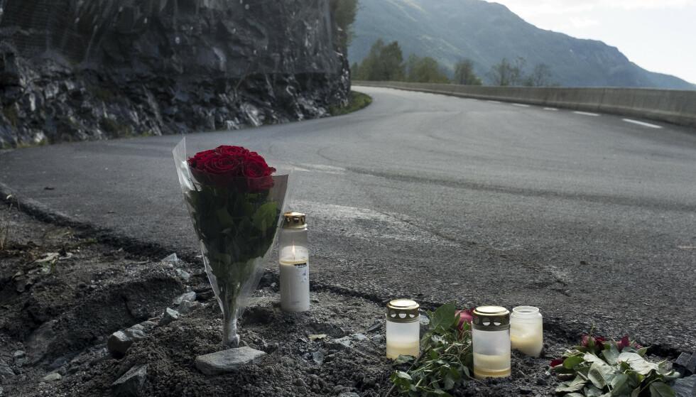Tre kvinner og to menn omkom da en amerikansk veteranbil kjørte inn i en fjellvegg på Rjukan nær Gaustatoppen i september 2018. Foto: Carina Johansen / NTB scanpix