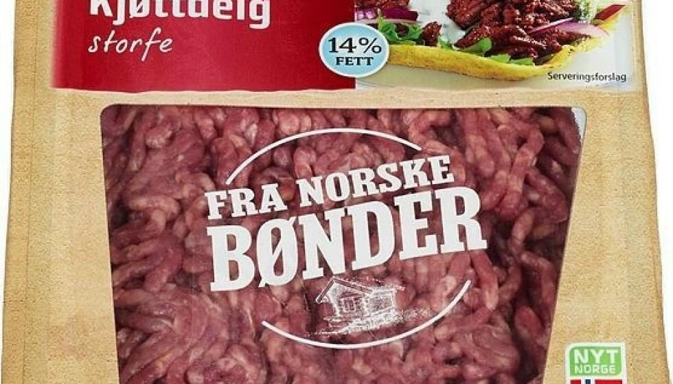 Mistanke om salmonella - tilbakekaller flere typer kjøttdeig