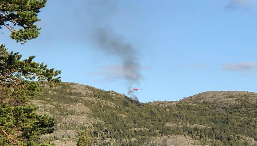 Alle de seks personene som var om bord i ulykkeshelikopteret, omkom. Foto: Vilde Øines Pedersen / NTB scanpix