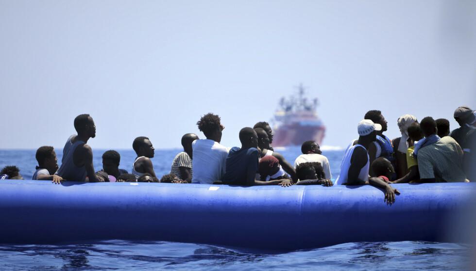 Det overveldende flertallet av dem som tok seg over Middelhavet til Europa i 2015 og 2016, flyktet fra konflikt og forfølgelse i hjemlandet, viser tysk undersøkelse. Illustrasjonsfoto: MSF / AP / NTB scanpix