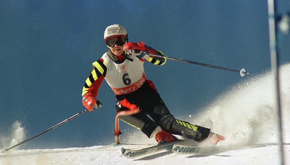 Blanca Fernandez Ochoa ble nummer tre i kvinnenes slalåm i OL i Albertville i 1992. Foto: Dieter Endlicher / AP / NTB scanpix