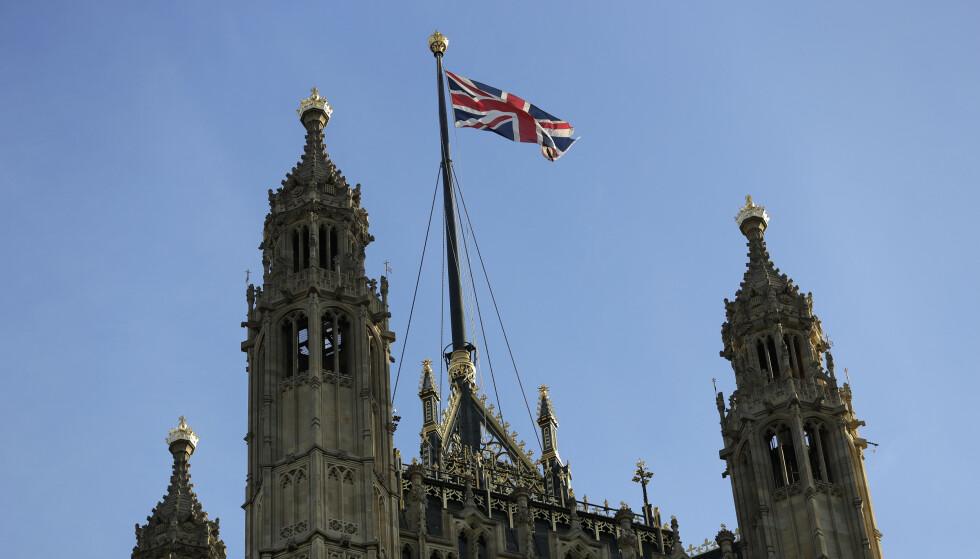 Fredag var et Overhusets tur til å debattere loven Underhuset vedtok for å hindre en hard bexit og legge til rette for ytterligere tre måneders utsettelse av EU-utmeldingen. Foto: Kirsty Wigglesworth / AP / NTB scanpix