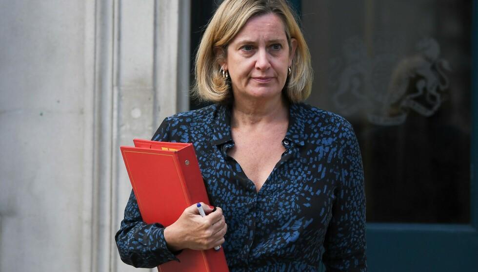 Den britiske ministeren Amber Rudd går av. Foto: Ben STANSALL / AFP / NTB scanpix