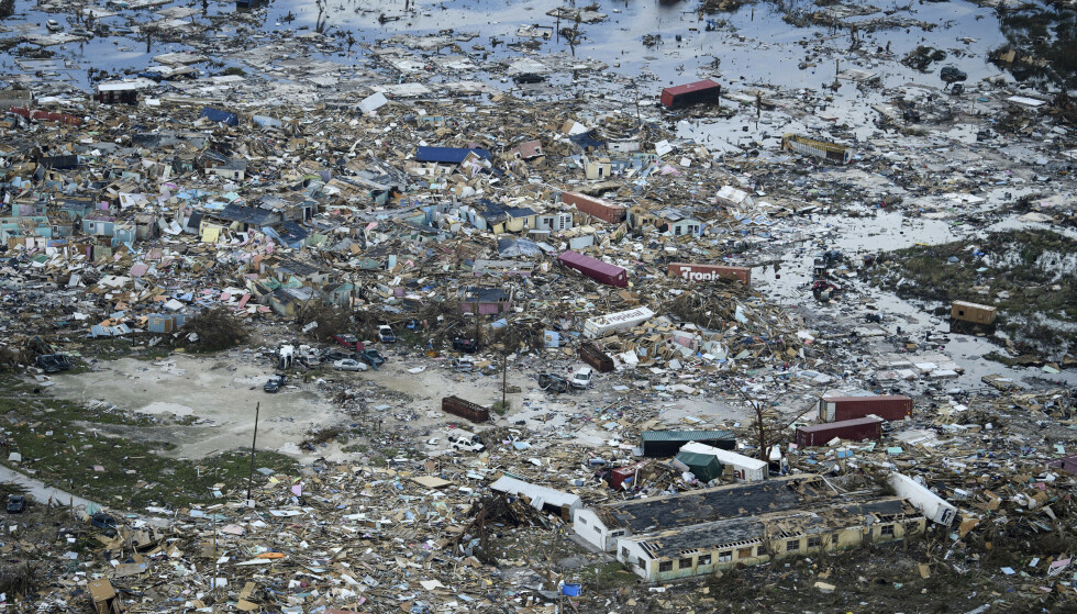 Ødeleggelsene i Abacos største by Marsh Harbour er nesten totale etter orkanen Dorian. Foto: UNICEF / PA via AP / NTB scanpix