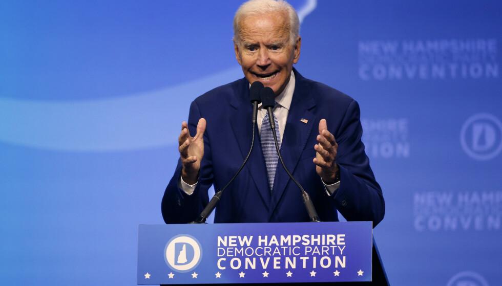 Joe Biden leder fortsatt i kampen om å bli Donald Trumps utfordrer neste år. Foto: Robert F. Bukaty / AP / NTB scanpix