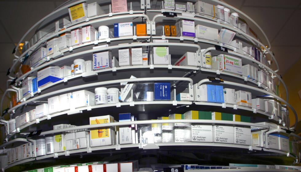 Salget av reseptfrie legemidler, målt i antall doser, økte med 6 prosent i første halvår 2019, sammenlignet med samme periode i 2018. Foto: NTB scanpix