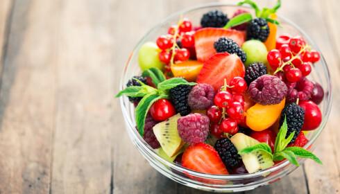 Fruktsalat kan være fin kveldsmat. Foto: pilipphoto/Shutterstock/NTB scanpix.