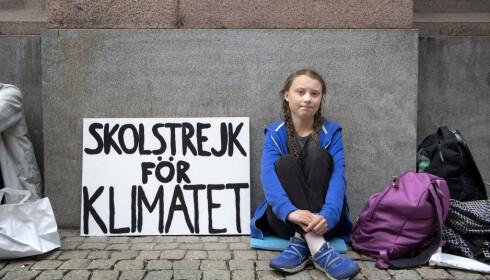 PRIO-direktøren mener at en pris til klimaaktivist Greta Thunberg vil falle utenfor nobelkomiteens oppdrag. Foto: Jessica Gow/TT NYHETSBYRÅN / NTB scanpix