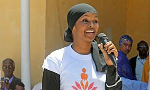 Somaliske Ilwad Elman trekkes frem som en av favorittene til å motta årets fredspris. Foto: AP/ NTB scanpix
