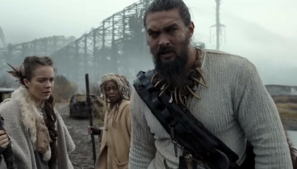 <strong>SEE:</strong> Jason Momoa, spiller hovedrollen i serien See, hvor alle på jordkloden er blinde. Foto: Youtube.
