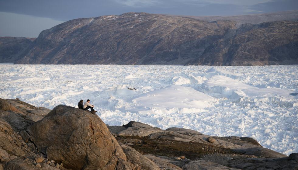 Isbreen Helheim på Sørøst-Grønland. AP Photo/Felipe Dana, File