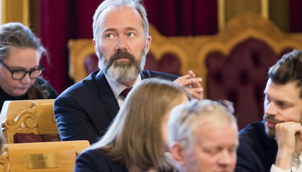 Trond Giske (Ap) under trontaledebatten i Stortinget denne uka. Foto: Terje Pedersen / NTB scanpix