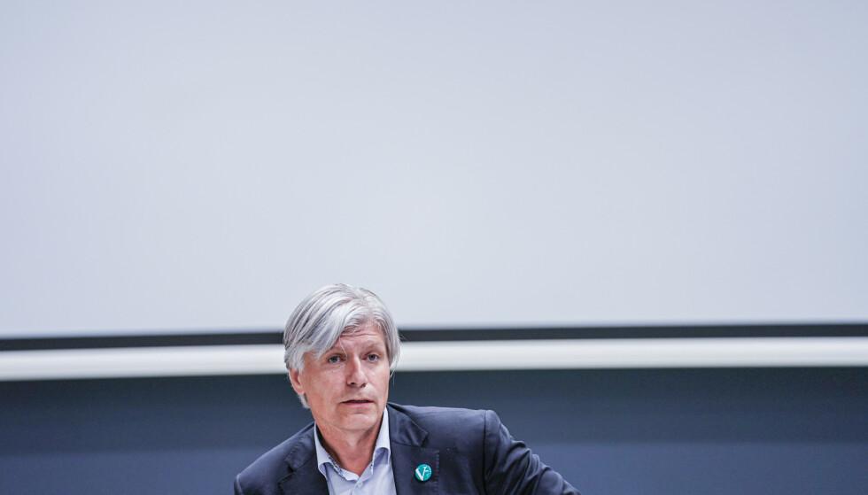 Klima- og miljøminister Ola Elvestuen (V) mener det er veldig bra at et prøveprosjekt med heroinassistert behandling kommer i gang. Det har vært en del av Venstres partiprogram siden 2007. Foto: Stian Lysberg Solum / NTB scanpix