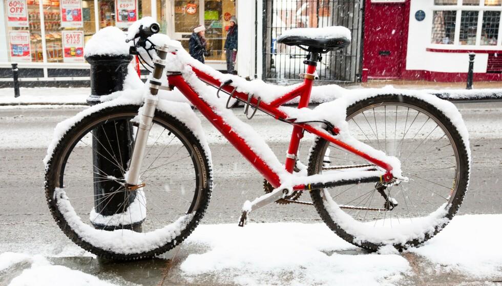 Vinterdekk til sykkel: Foto: NTB Scanpix.