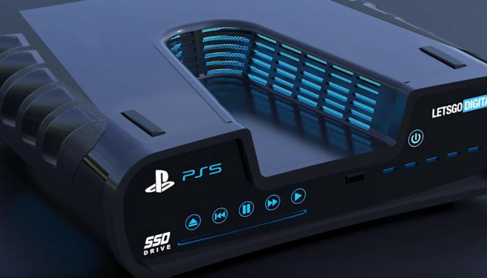 <strong>Playstation 5:</strong> Vil den se slik ut? Foto: LetsGoDigital/Youtube.