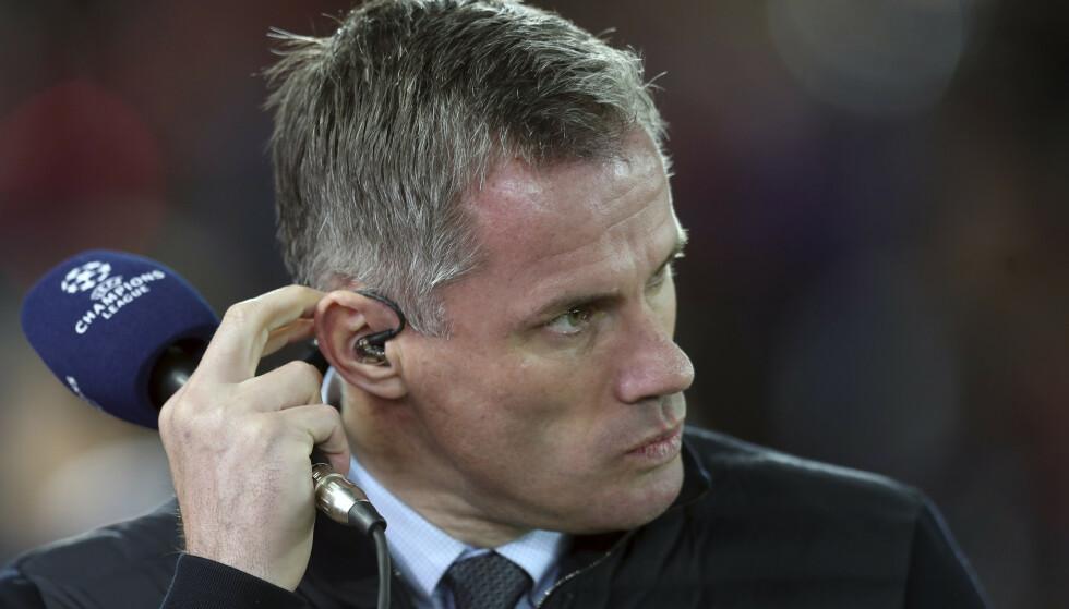 Tidligere Liverpool-spiller og kommentator for Sky Sports Jamie Carragher. Foto: Jon Super / AP / NTB scanpix