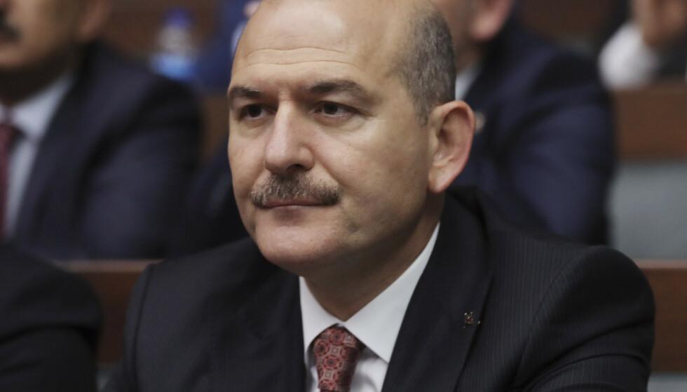 Tyrkias innenriksminister Suleyman Soylu. Foto: Burhan Ozbilici / AP Photo / NTB scanpix