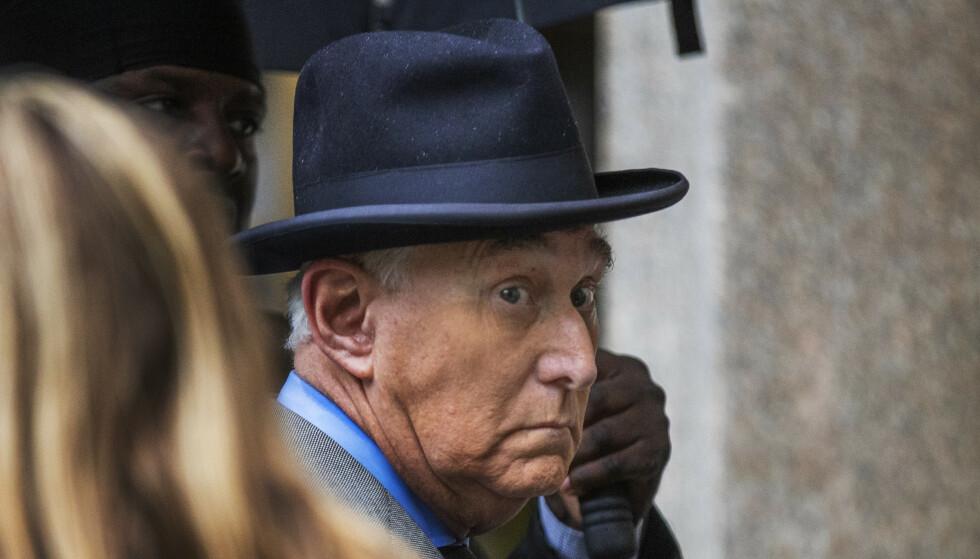 Roger Stone, en tidligere rådgiver for USAs president Donald Trump, er kjent skyldig på alle punkter i saken mot ham. Foto: Manuel Balce Ceneta / AP / NTB scanpix