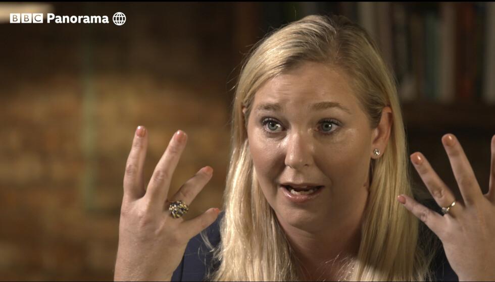 Virginia Roberts Giuffre under intervjuet som sendes av BBC Panorama mandag kveld. Foto: BBC Panorama via AP / NTB scanpix