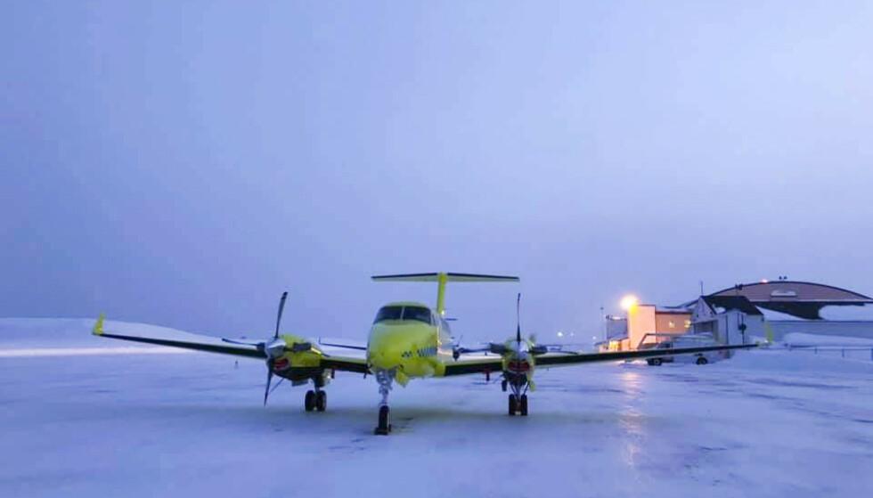 Fem av de nye Beech B250 ambulanseflyene til Babcock ble tatt ut av tjeneste etter tekniske uregelmessigheter. Med seks operative fly ble tjenesten nesten halvert i helga, og det fikk konsekvenser. Foto: BSAA / NTB scanpix