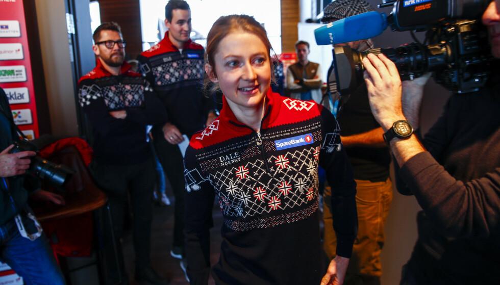 Ingvild Flugstad Østberg holdes fortsatt hjemme mens lagvenninnene konkurrerer i verdenscupen. Foto: Terje Pedersen / NTB scanpix.