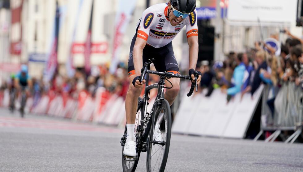 Sindre Lunke (Riwal Readynez Cycling Team) opplevde hjerteflimmer. Foto: Fredrik Hagen / NTB scanpix
