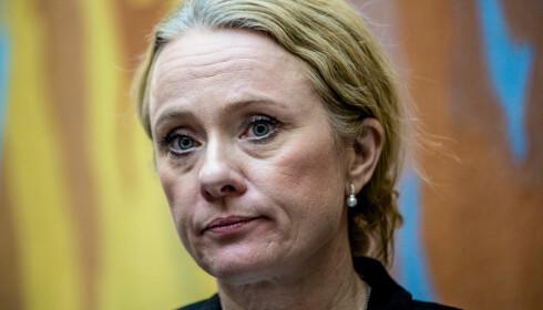 Arbeids- og sosialminister Anniken Hauglie (H) har sendt en omfattende oversikt over Nav-skandalen til Stortinget. Foto: Stian Lysberg Solum / NTB scanpix