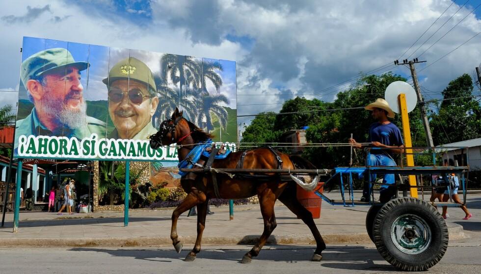 Mangel på drivstoff fører til at cubanere i større grad enn tidligere må ta i bruk dyr for transport på øya. Foto: AFP / NTB scanpix