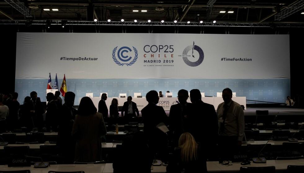 FNs klimakonferanse i Madrid er over, to dager på overtid. Resultatet skuffet de fleste. Foto: AP / NTB scanpix