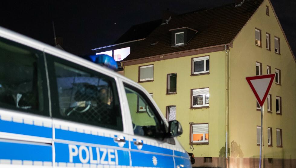 Den savnede 15-åringen skal ha blitt funnet i dette bygget i Recklinghausen vest i Tyskland. Foto: Marcel Kusch/dpa