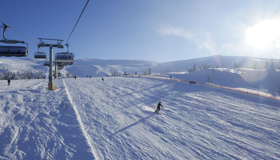 Skisenteret i Trysil. Fra den nye flyplassen Scandinavian Mountains Airport tar det 40 minutter til skianlegget. Foto: Erik Johansen / NTB scanpix
