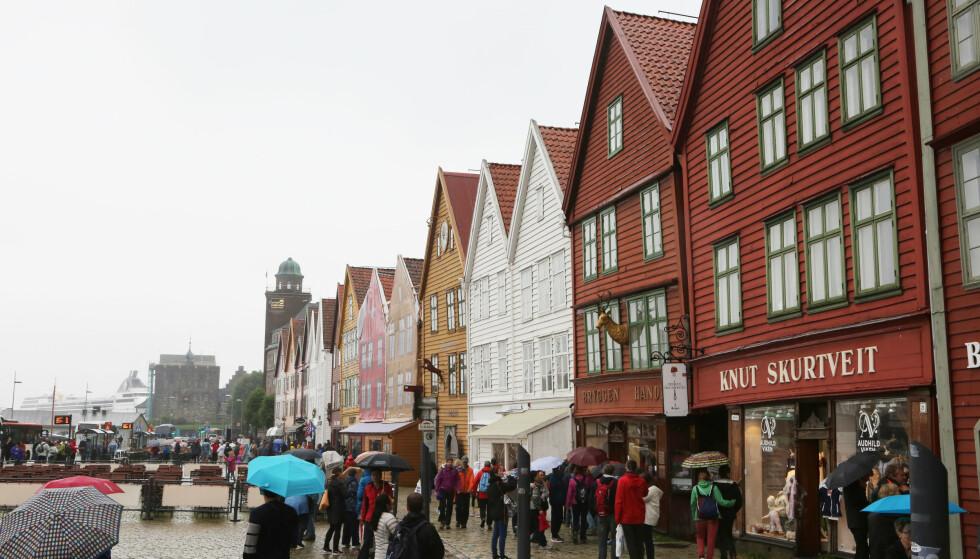 Natt til lørdag ble det satt varmerekord for desember i Bergen. Foto: Erik Johansen / NTB scanpix