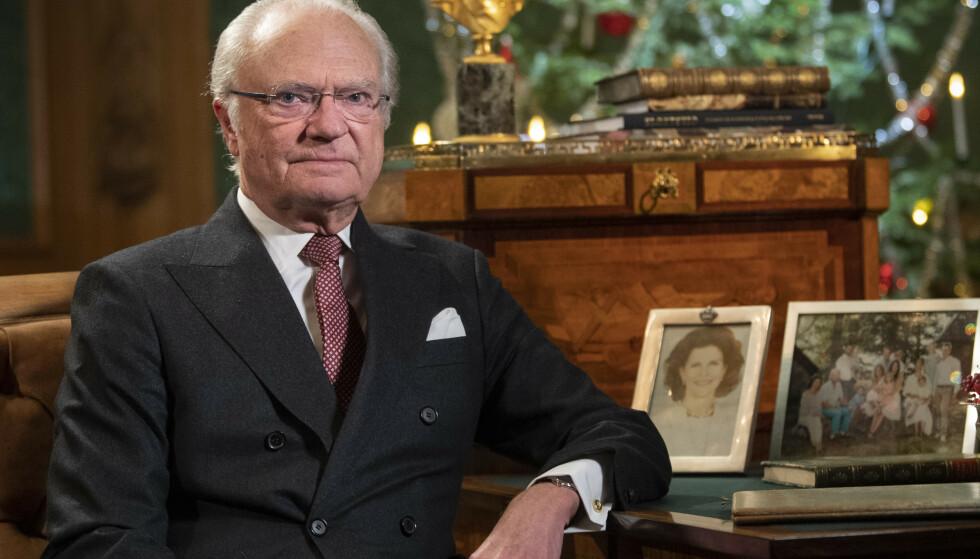 Bildet viser Kong Carl Gustaf i desember i år. Foto: Fredrik Sandberg / TT / NTB scanpix