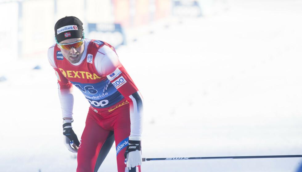 Emil Iversen fikk det tungt på dag to av Tour de Ski. Foto: Terje Pedersen / NTB scanpix.