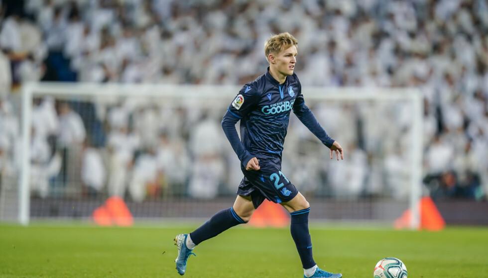 Martin Ødegaard i aksjon for Real Sociedad mot Real Madrid i november. Foto: Heiko Junge / NTB scanpix