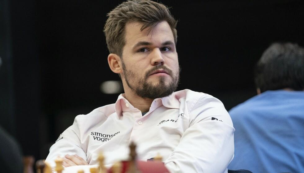 Magnus Carlsen under VM i hurtig- og lynsjakk i Moskva i jula. Foto: Maria Jemelijanova / AP / NTB scanpix..