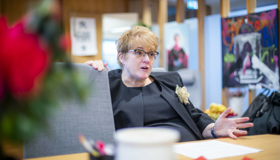 Venstre-leder Trine Skei Grande avviser forhandlinger om eventuelle krav fra Frp som kommer i tillegg til regjeringsplattformen. Foto: Håkon Mosvold Larsen / NTB scanpix