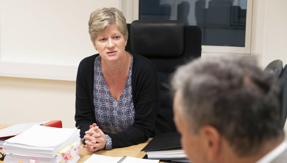 Gjenopptakelseskommisjonen med leder Siv Hallgren skal vurdere Viggo Kristiansens ønske om å få Baneheia-saken rettsbehandlet på nytt. Foto: Terje Bendiksby / NTB scanpix