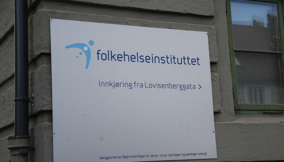 Folkehelseinstituttet i Oslo. Illustrasjonsfoto: Terje Bendiksby / NTB scanpix