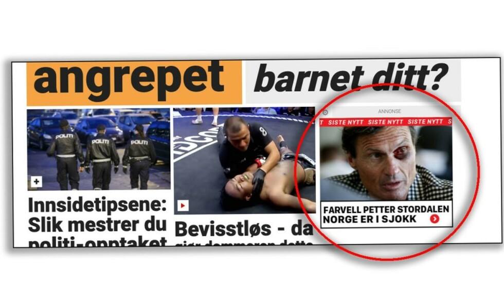(Skjermdump: Dagbladet.no.)