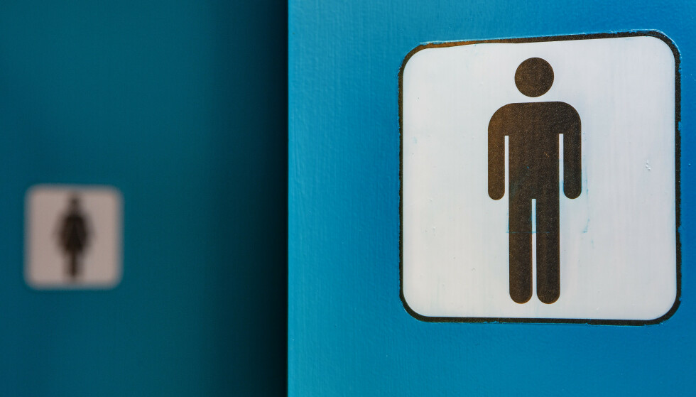 Dame- og herreskiltene på alle enkeltstående toaletter i kommunale bygg i Trondheim skal fjernes. De erstattes med kjønnsnøytrale skilt. Foto: Paul Kleiven / NTB scanpix.