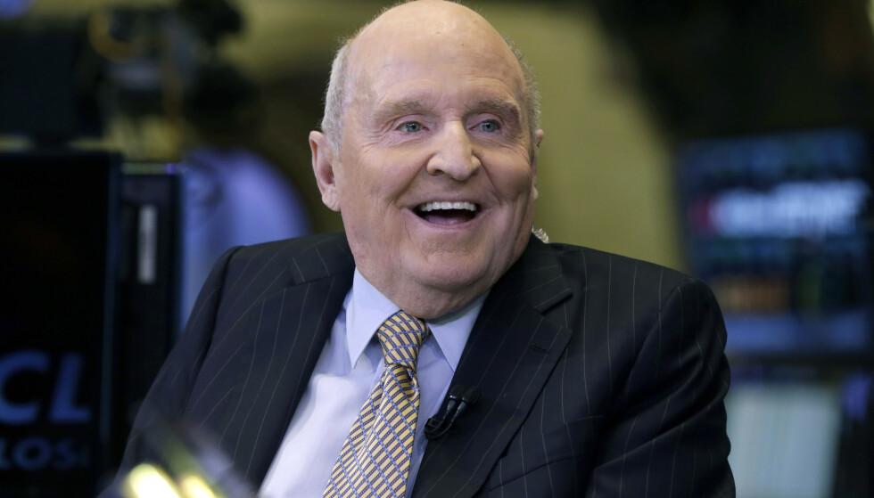 General Electrics tidligere leder Jack Welch, her under et besøk på New York-børsen i 2013, er død, 84 år gammel. Arkivfoto: AP / NTB scanpix